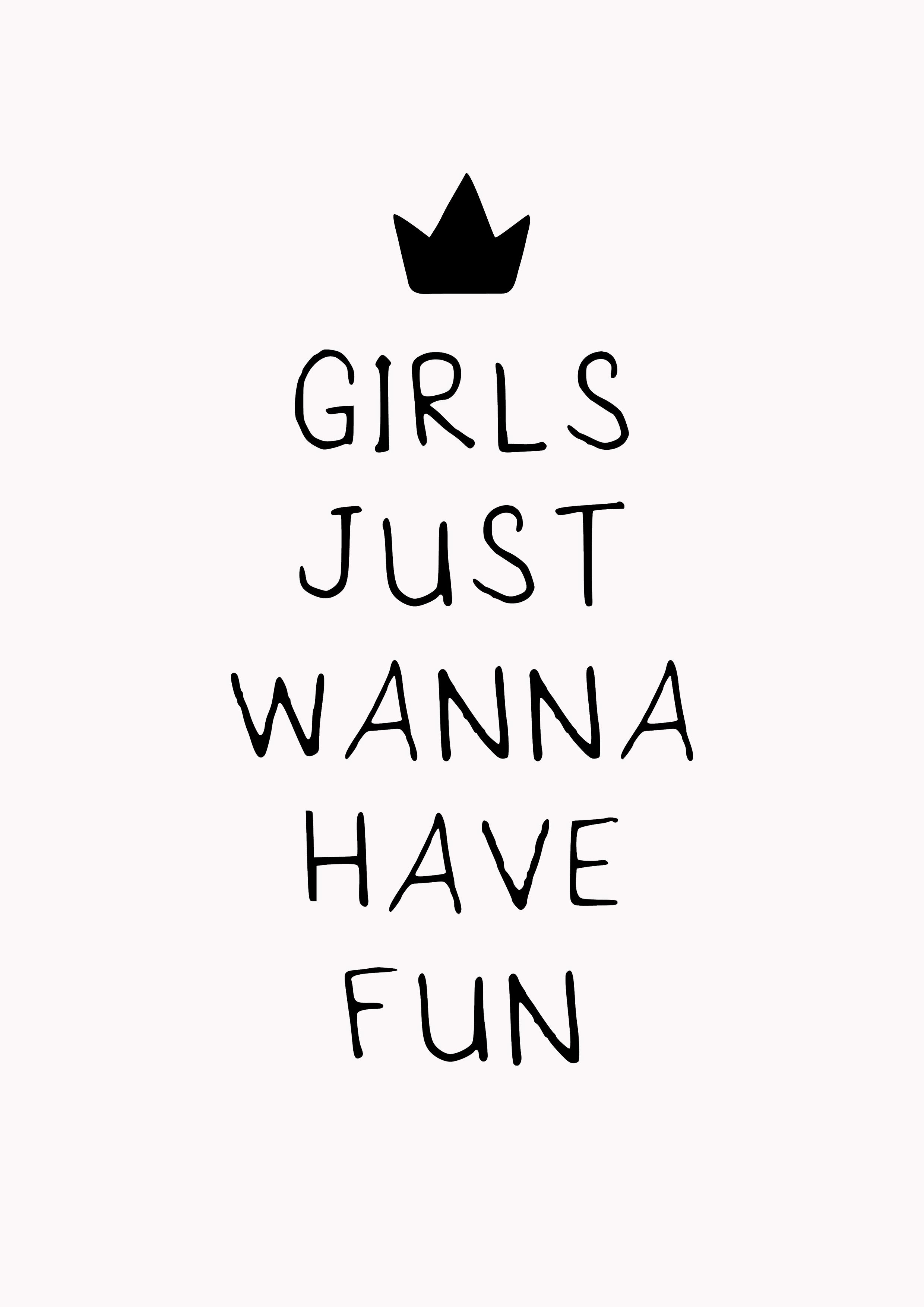 118dffd7b5 Pôster Girls Just Wanna Have Fun no Elo7