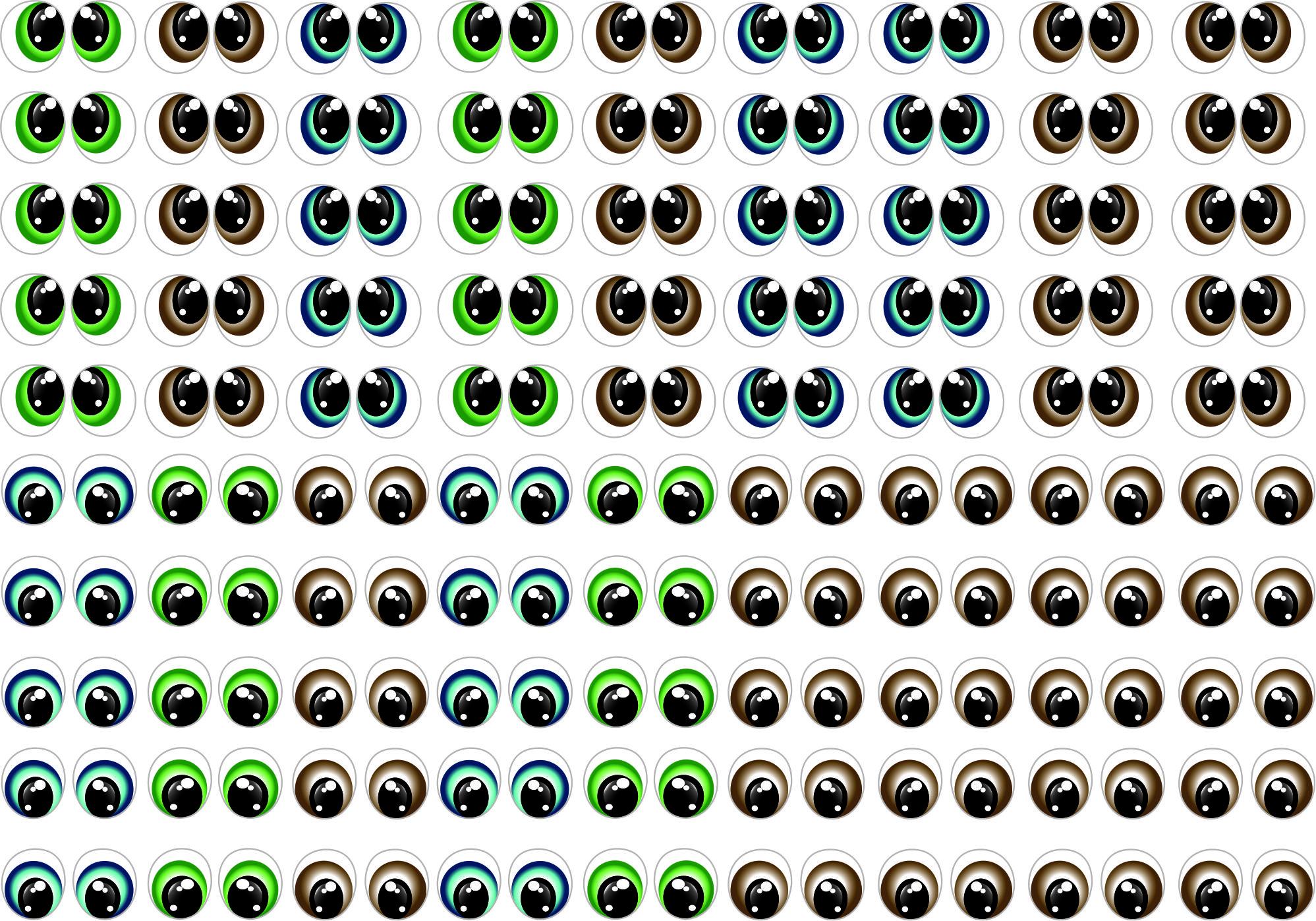 Adesivos de olhos cod 341 P Monicarts Elo7