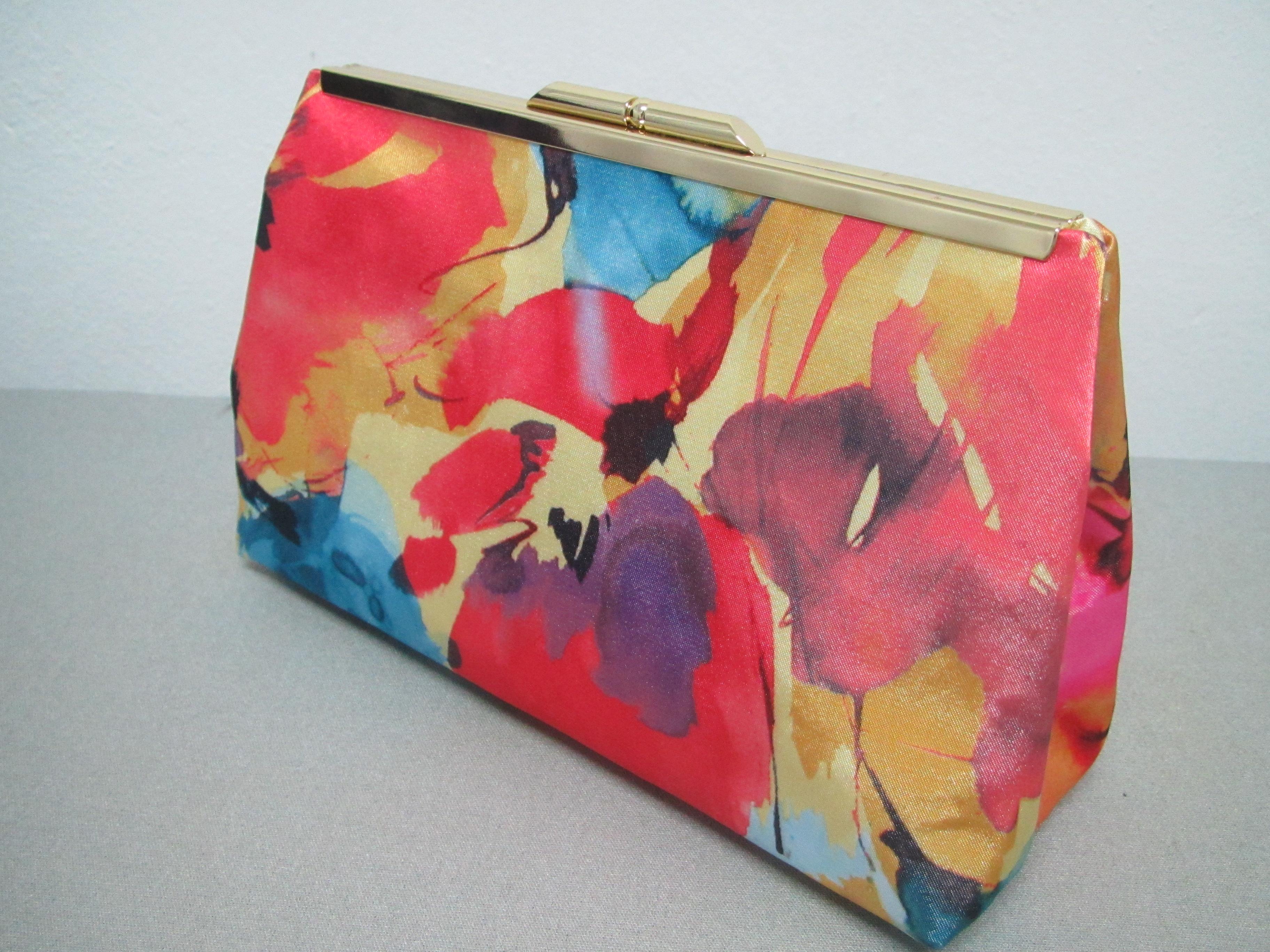 04c84bf1c Bolsa Clutch Estampada Abstrato Colorido no Elo7 | Eleganza Design (7D5A9C)