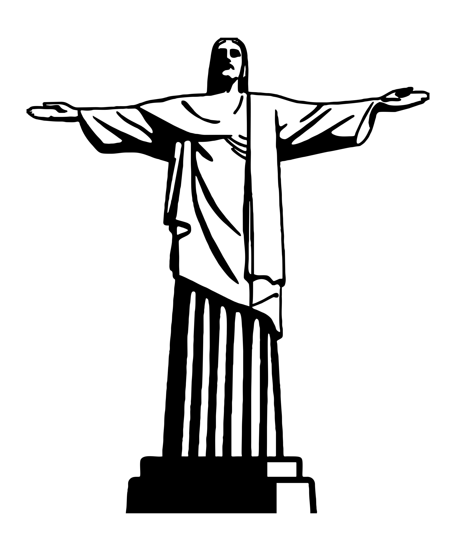 Fabuloso Adesivo Decorativo Cristo Redentor no Elo7 | RR adesivos (7D6F95) AX42
