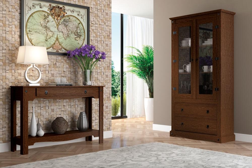 Aparador Estreito Para Cozinha ~ Aparador de madeira para sala de estar Everest Magazine Elo7
