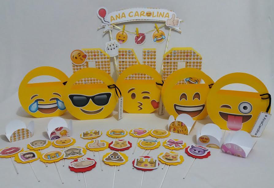 Festa Emoji ou Emotion Creative Kits Elo7