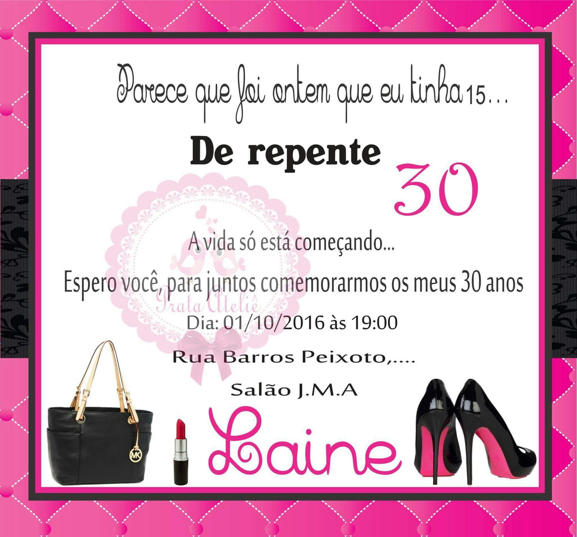 Convite Digital De Repente 30 No Elo7 Prata Atelie 7d916d