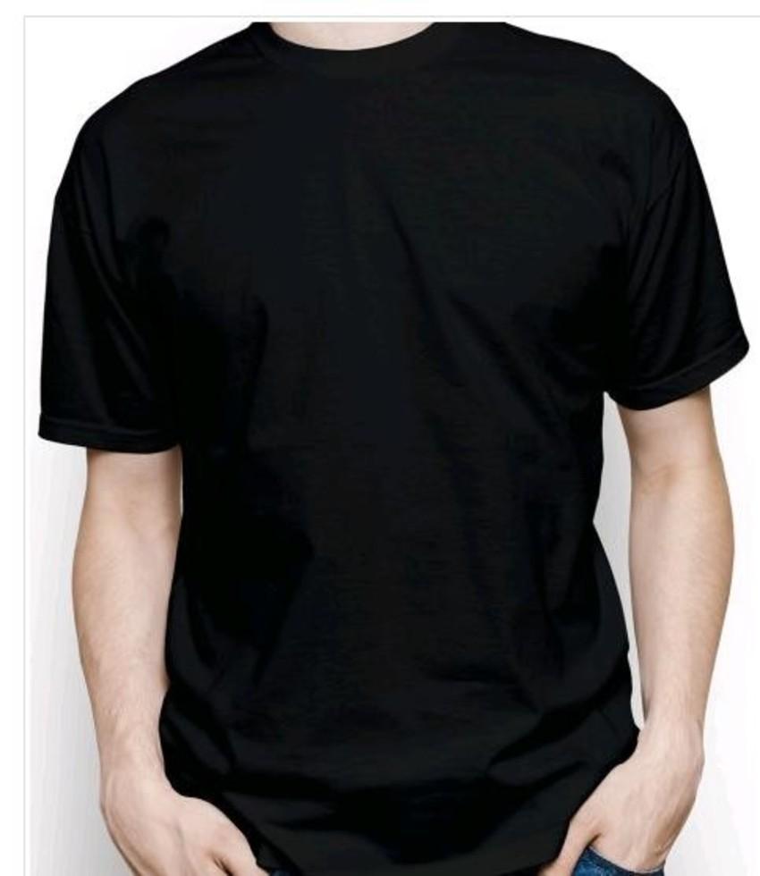 4f31113e1b Camiseta Preta Lisa Algodao