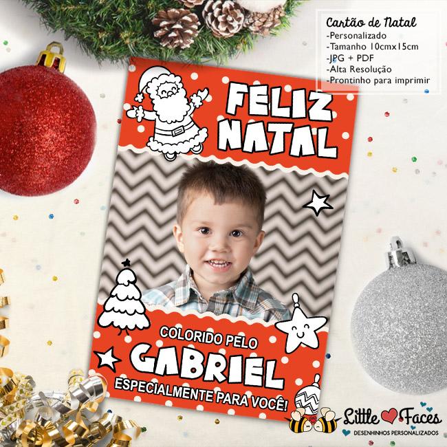 Cartao De Natal Para Colorir Digital No Elo7 Littlefaces 7da894
