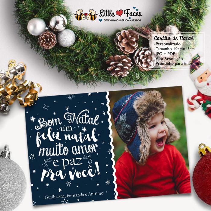 Cartao De Natal Personalizado Foto No Elo7 Littlefaces 7db92f