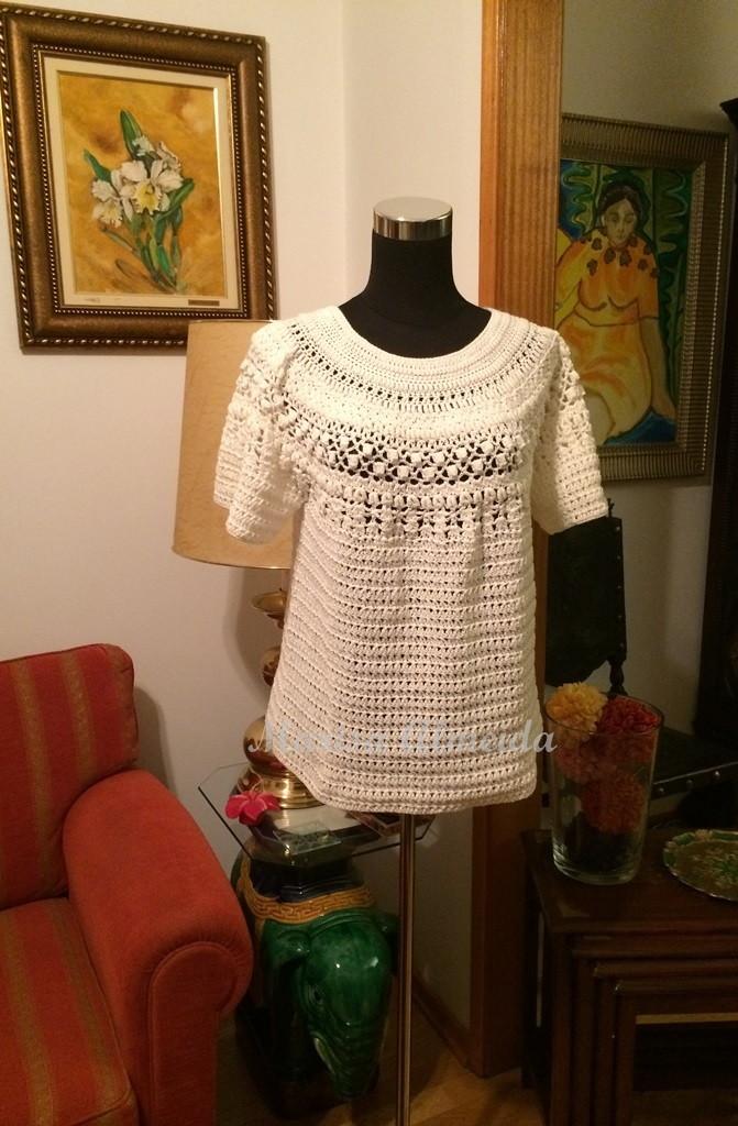 c83e95a1d74e0 Blusa Crochet Modelo MA no Elo7