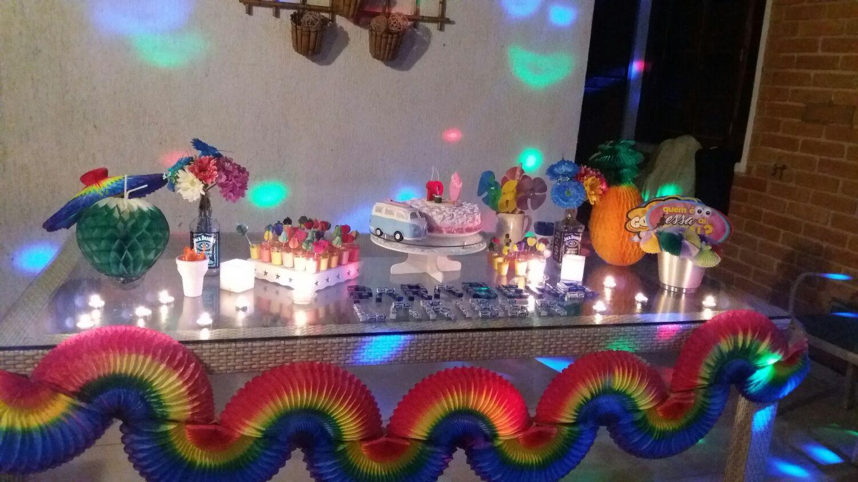 Kit decoracao Festa Havaiana dec Rapida GiroToy Enfeites Elo7 -> Decoração De Festa Havaiana Simples