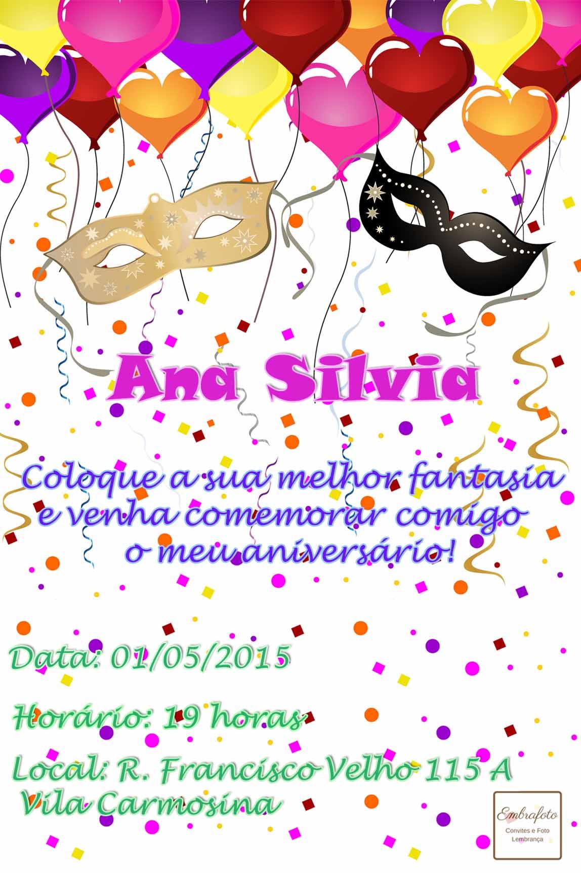 Convites Para Aniversario Colecao De Embrafoto Embrafoto Elo7