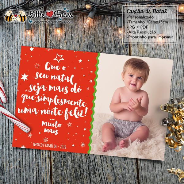 Cartão De Natal Personalizado Foto