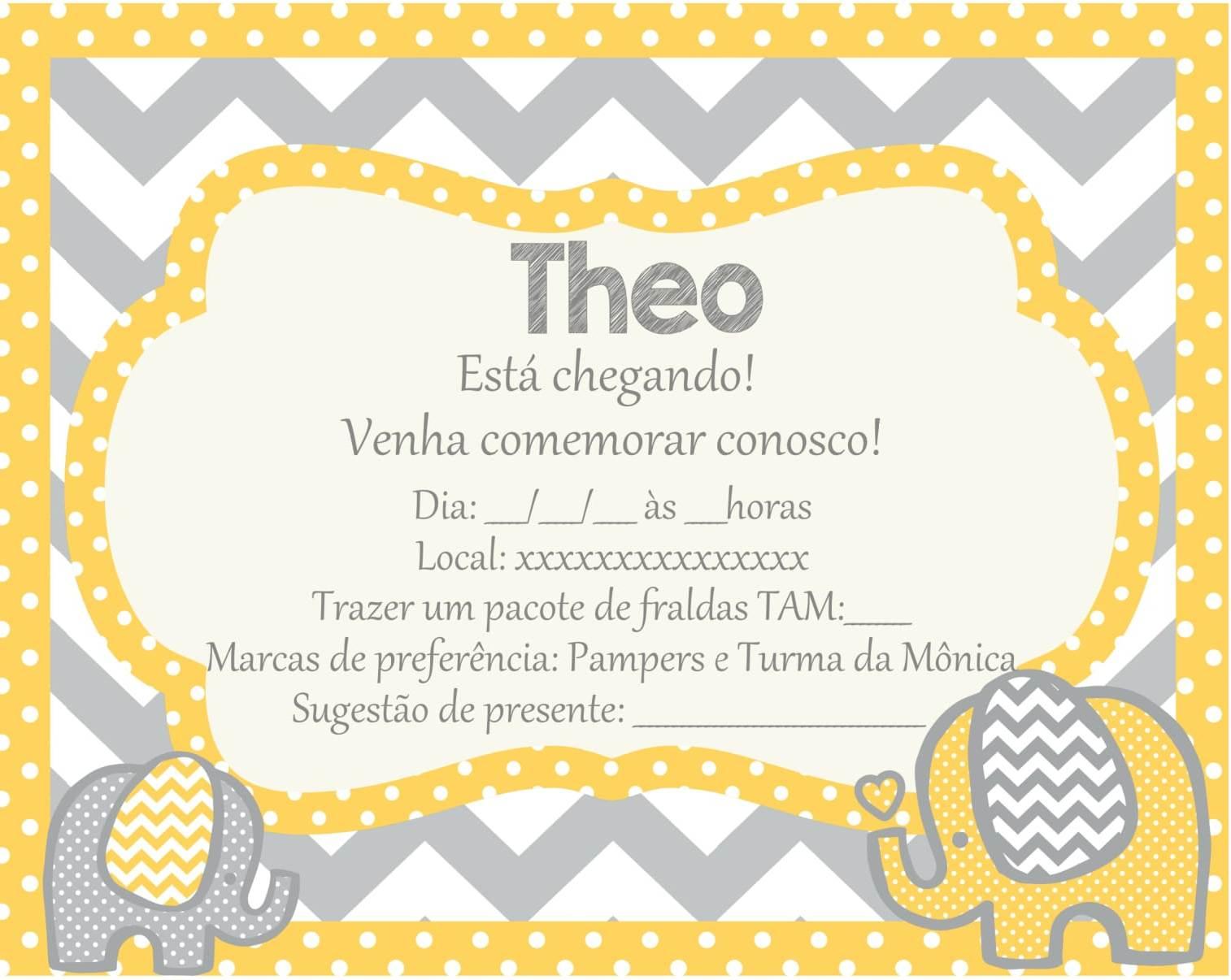 Arte Digital Convite Chá De Bebê No Elo7 Bianca Da Costa Araújo