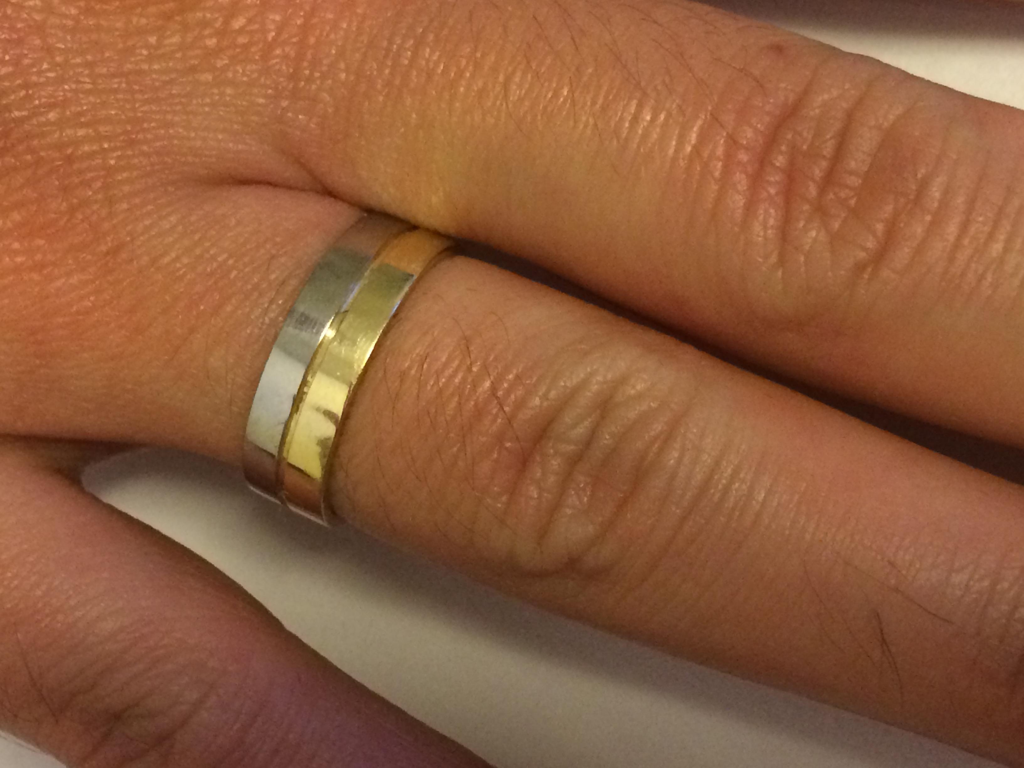 9715ae1c309bb Alianças de Ouro Branco e Amarelo   Elo7