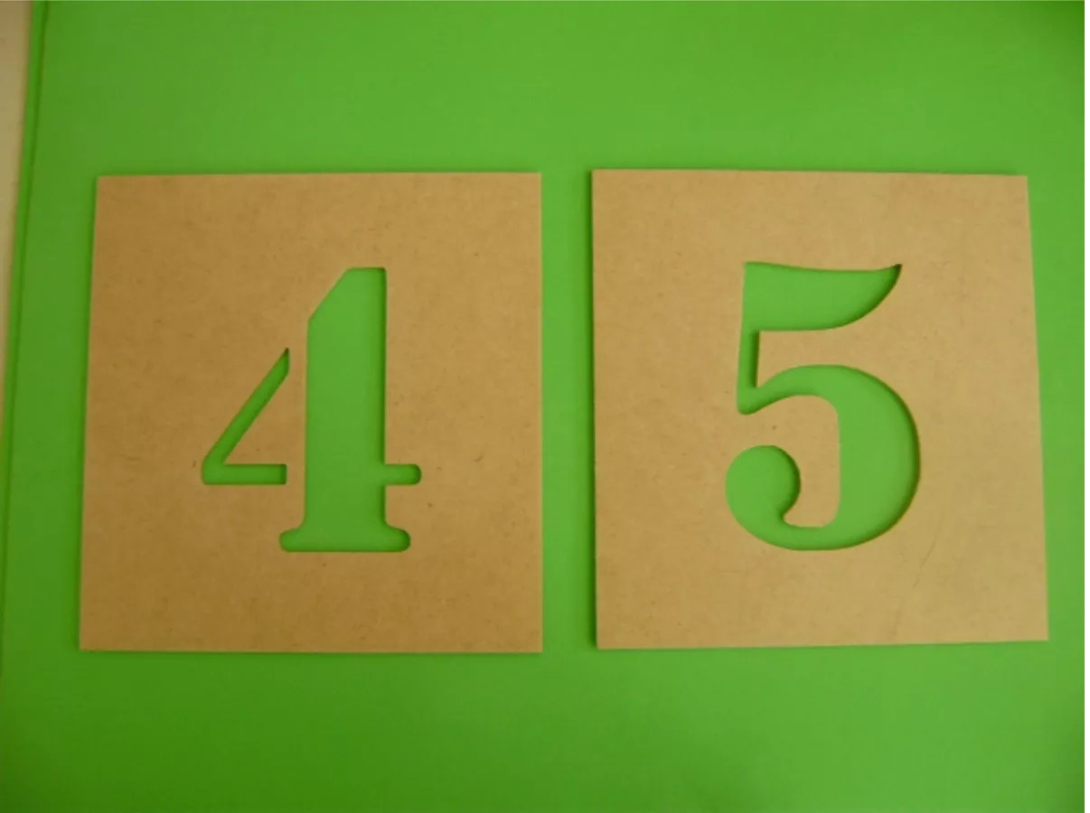 Muitas vezes Stencil Alfabeto + Numeros 15cm altura no Elo7 | Rossi Guerra (7EA538) CO95