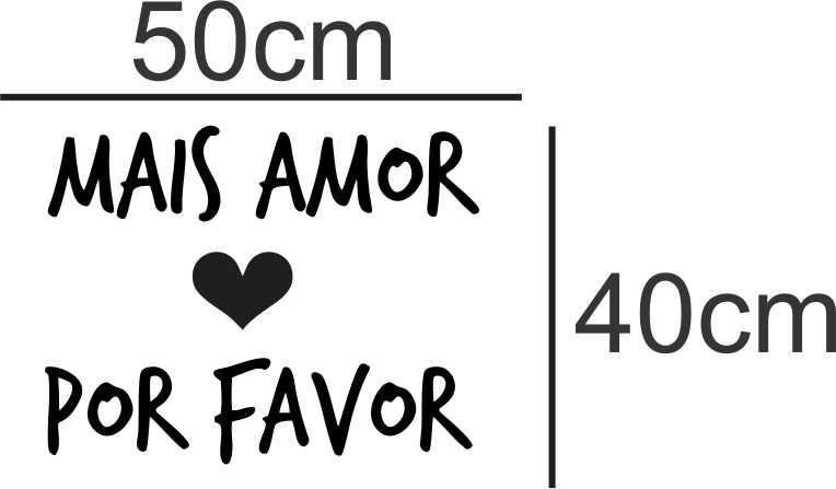 Adesivo Decorativo Mais Amor Por Favor No Elo7 Color Gifts 7eea2e