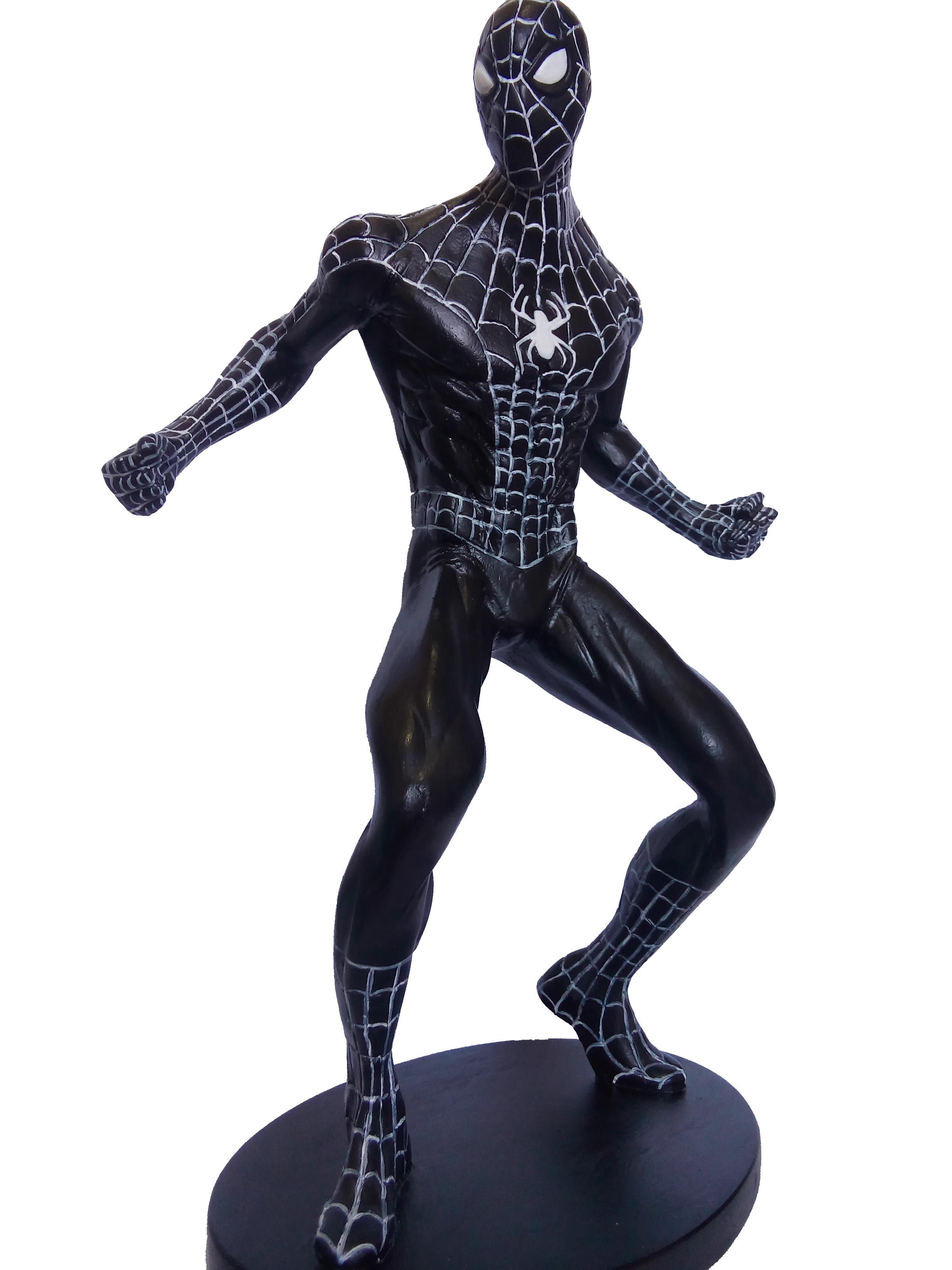 Homem Aranha Black Colecionaveis No Elo7 Resina Toys 7f00cb Boneco de 30cm, está como novo, vendo porque o meu filho já não brinca. homem aranha black colecionaveis