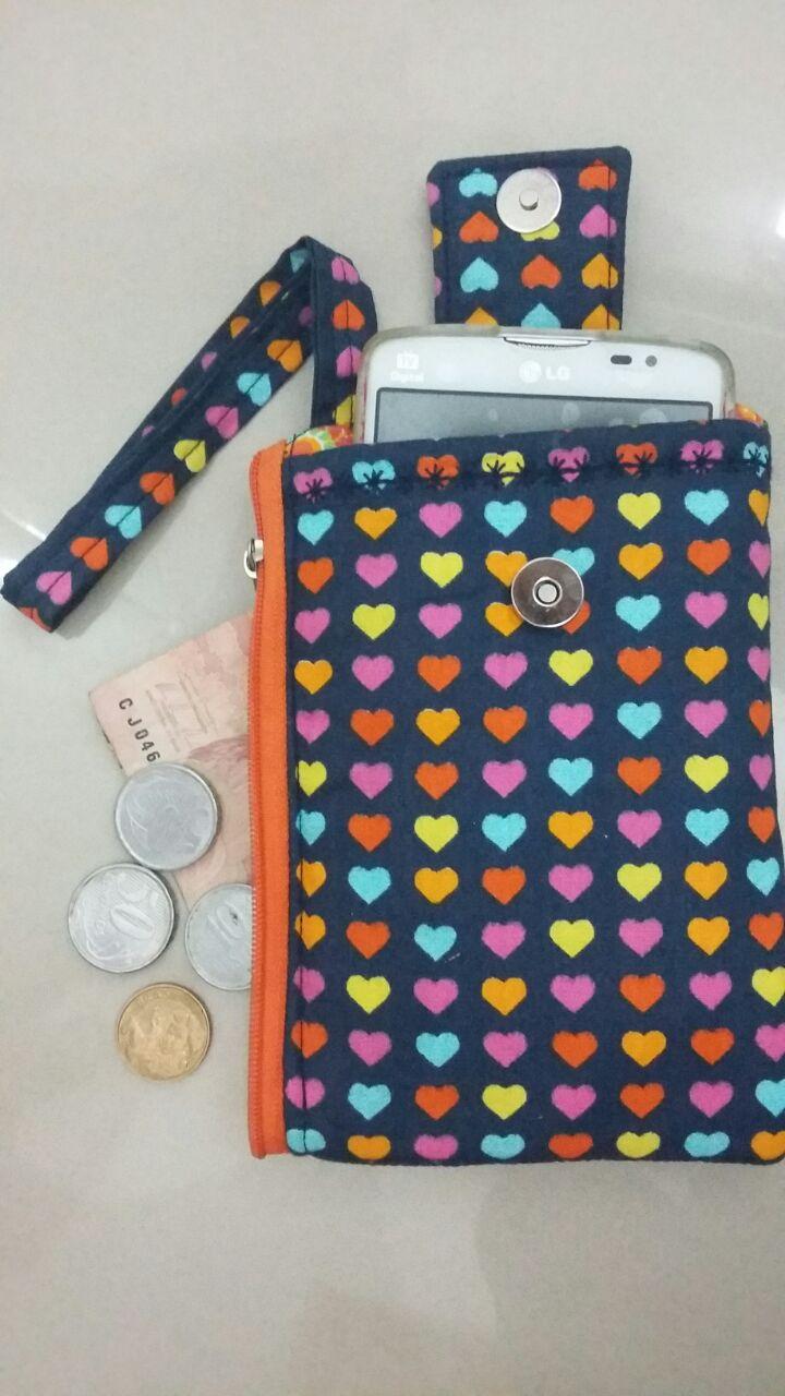 Bolsa De Mão Para Celular : Bolsa de m?o porta celular ateli? costurices e