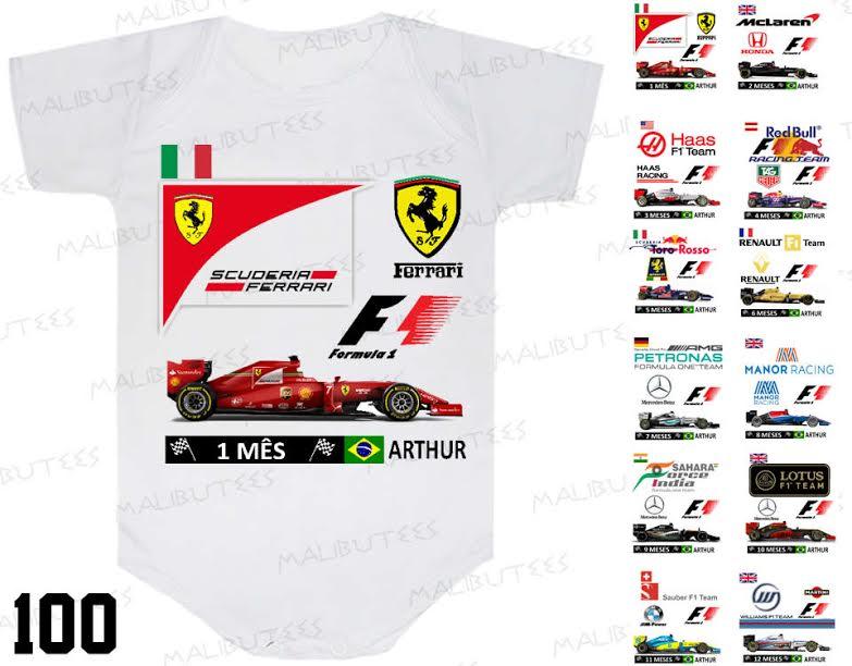 Macacao com Body Formula 1  b06f8d40cda