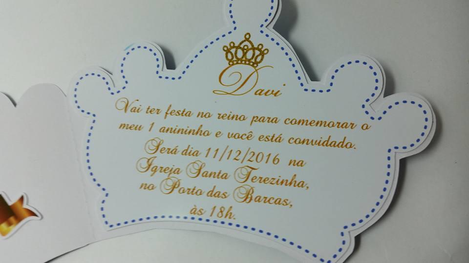 Convite Coroa Dourada Azul Royal No Elo7 Scrap Mimos Arts Da