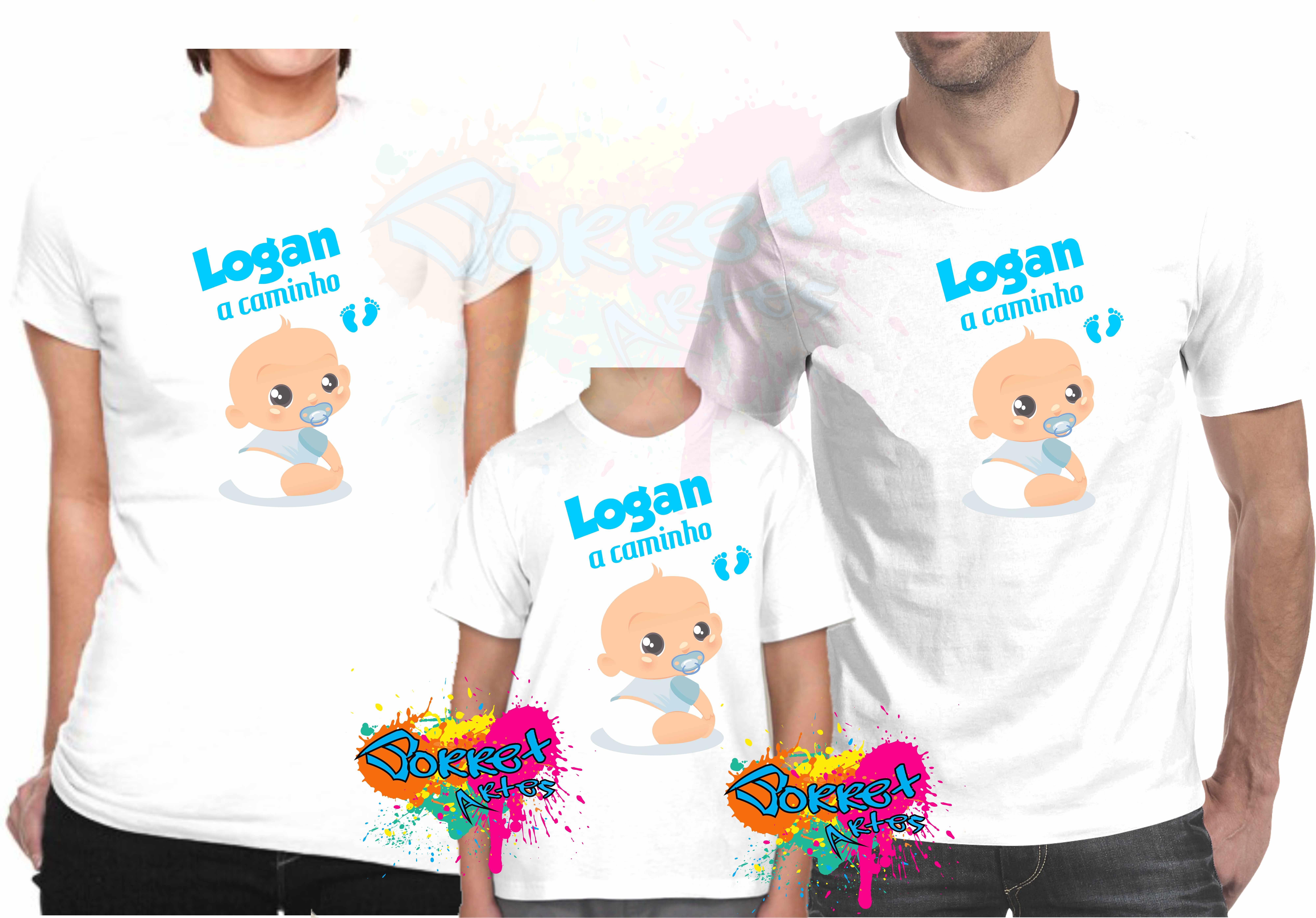 a516331b6a508 Camisa com Estampa Chá de Bebê