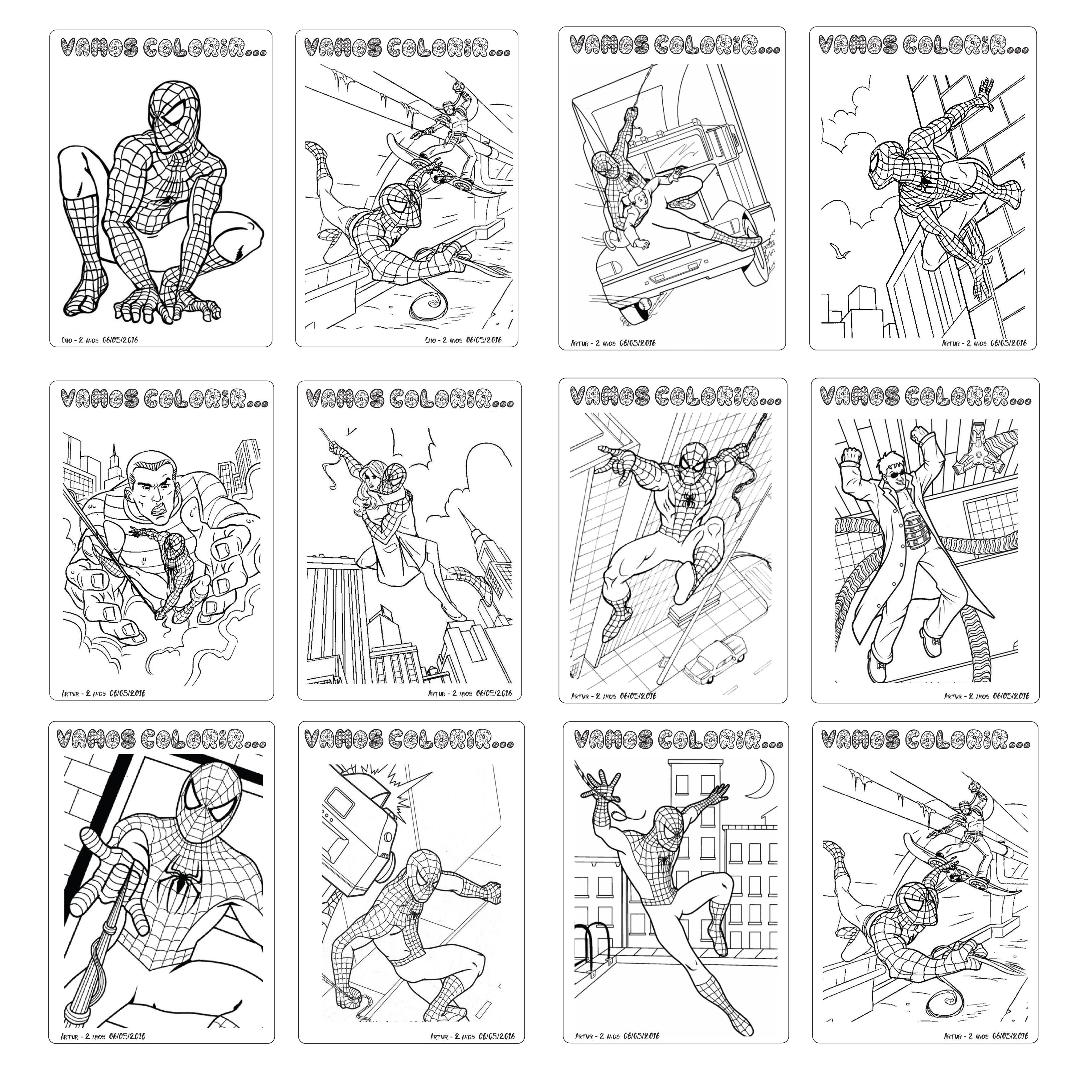 Favoritos Livro de Pintar Homem Aranha no Elo7 | Maria Joaninha (7160B6) BW67