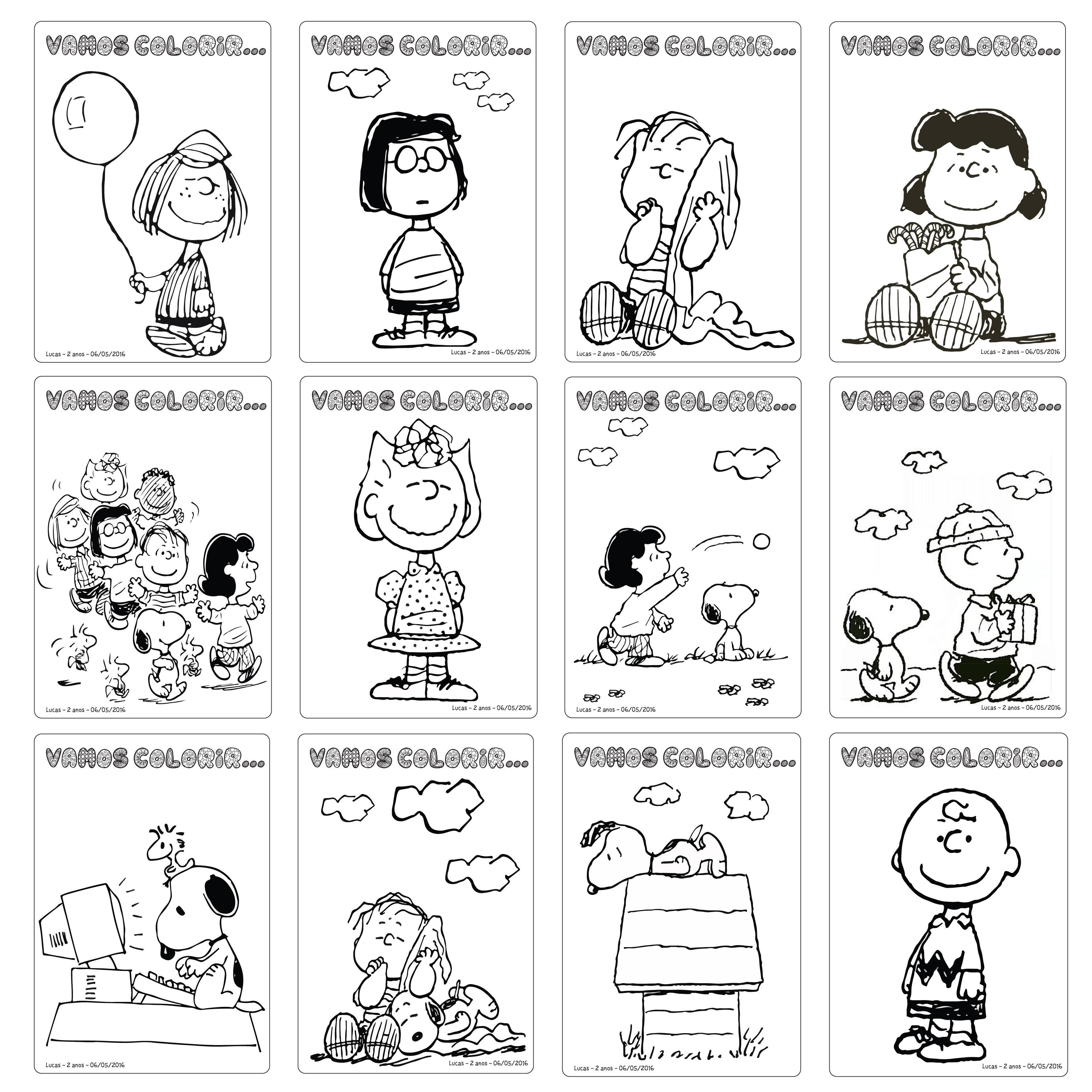 Livro De Pintar Snoopy