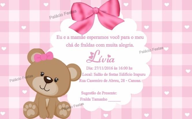 Convite Ursinha No Elo7 Palácio Festas Brinquedos 7f989a