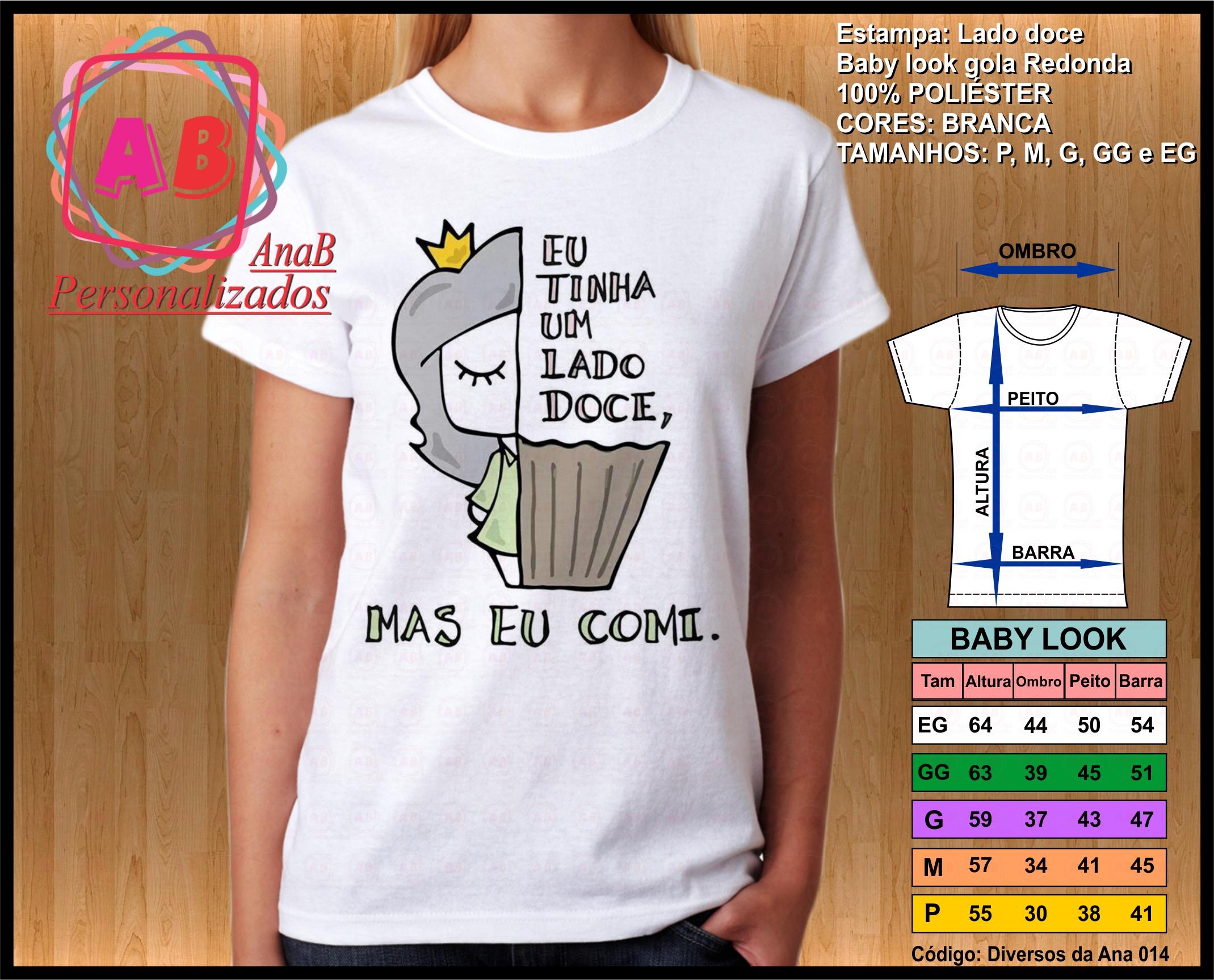 Camisetas para Doces  bc516eca07a