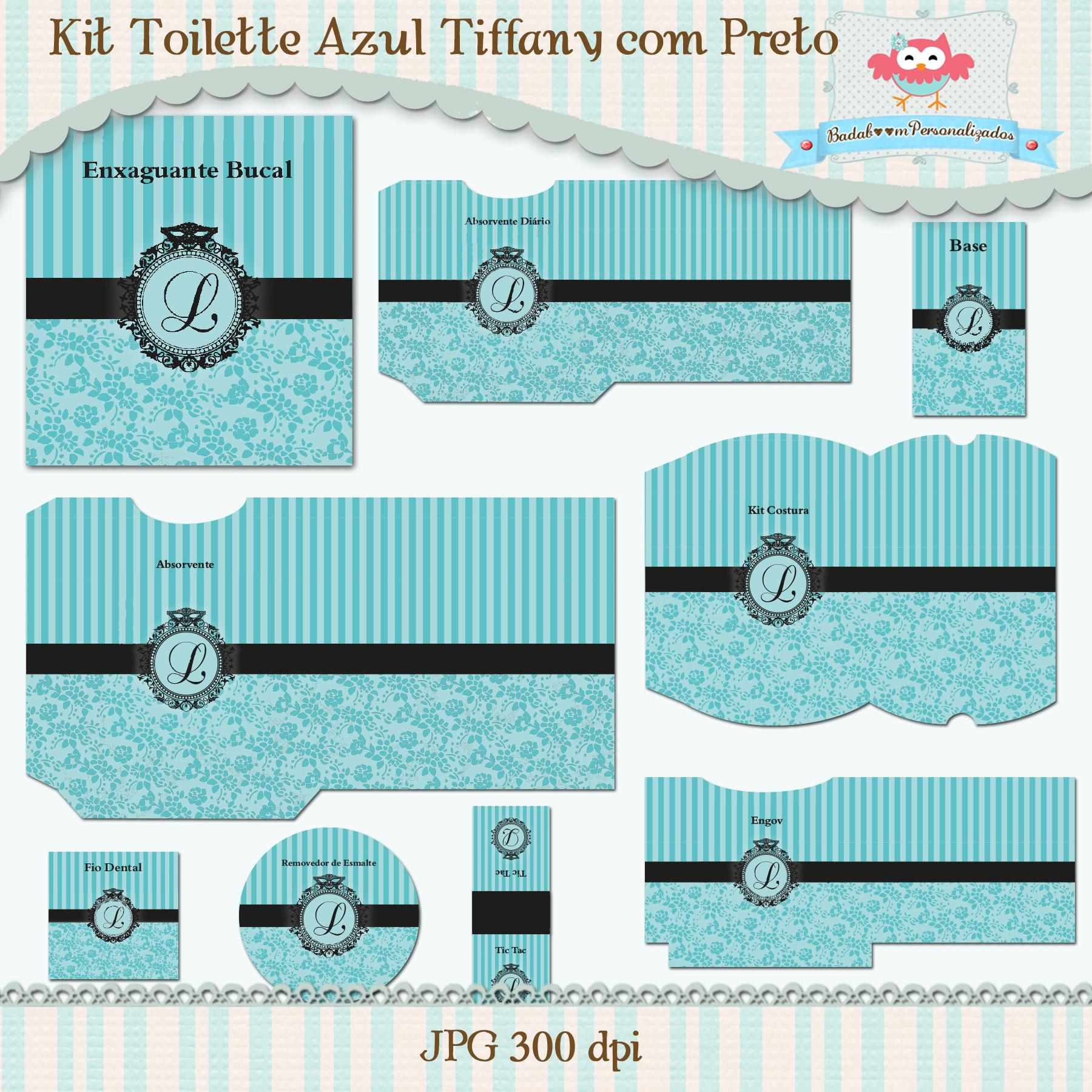 Kit Digital Azul Tiffany   Elo7 1308d9ea82