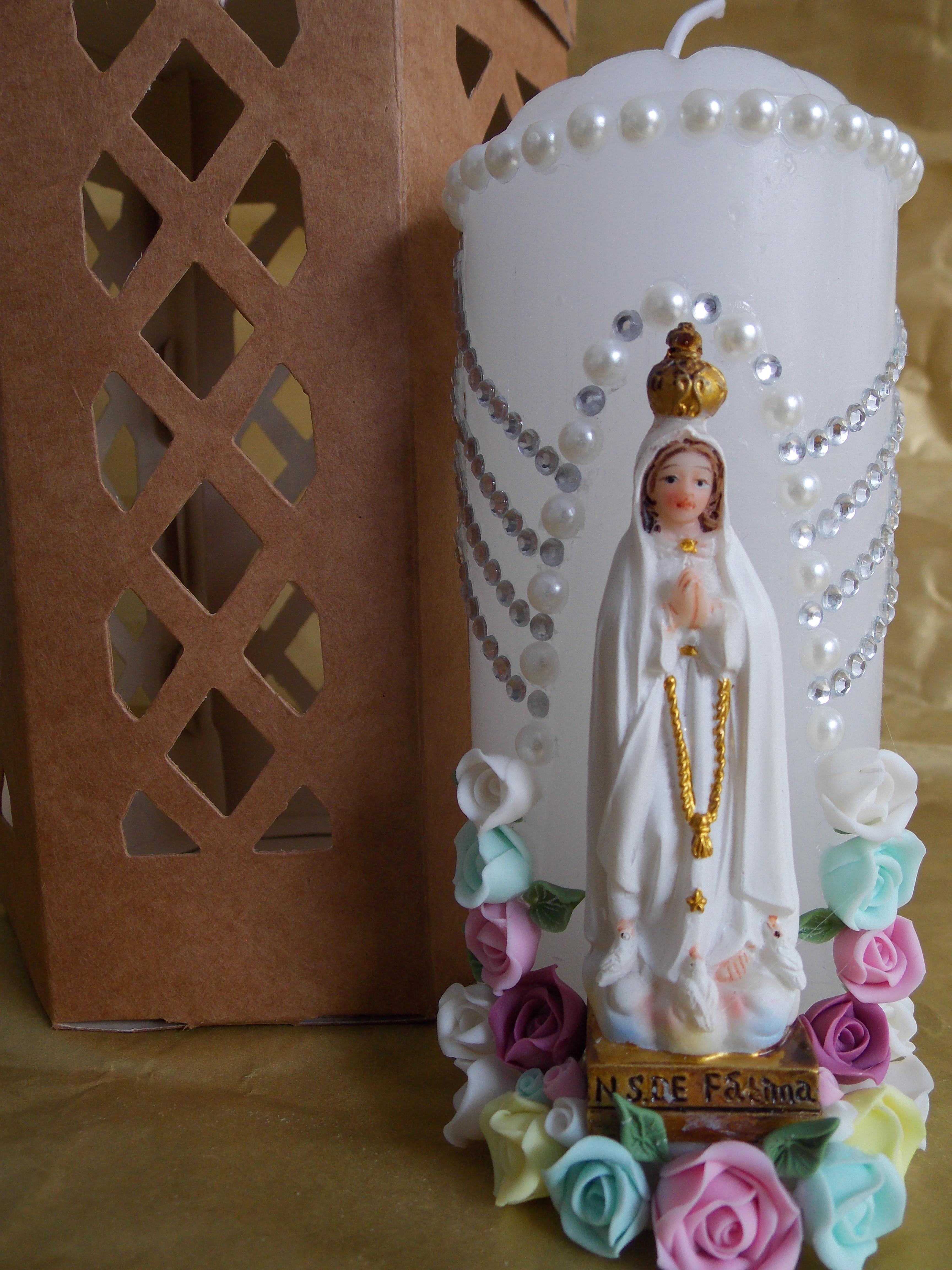 Velas decoradas com imagens religiosas monica barros barbosa mota elo7 - Figuras para decorar ...