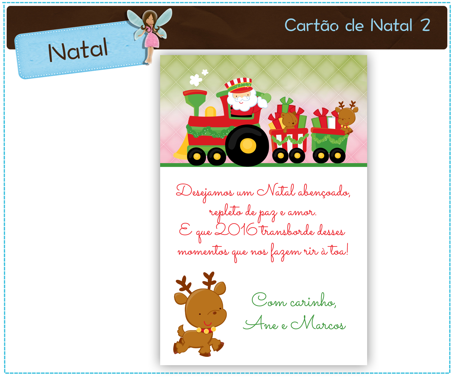 Cartões De Natal Para Imprimir Elo7