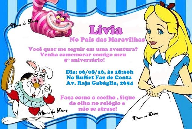 Convite Alice No País Das Maravilhas No Elo7 Boo Bunny Be3d74