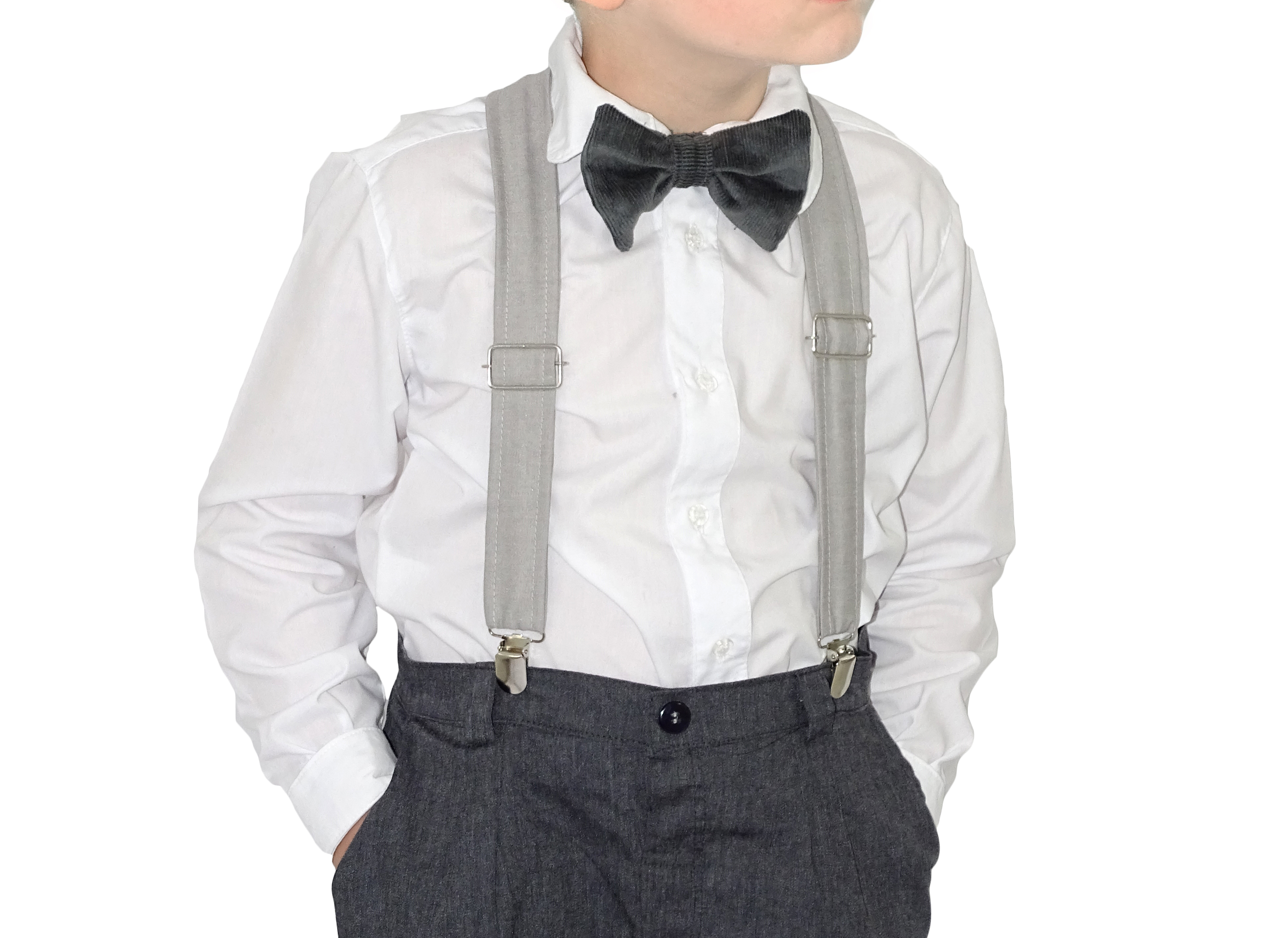 4b1bfa6b96 Camisa Branca Social Infantil no Elo7