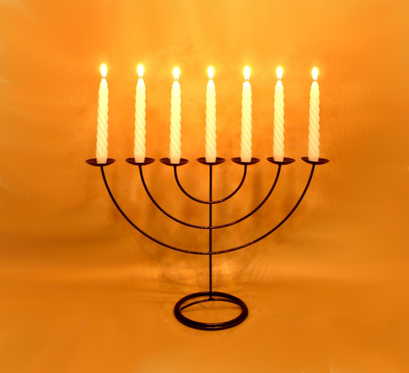 Menorah G Candelabro 7 braços com 7 velas cód. 80243 no Elo7 | VELITAS  Velas e Ferros decorativos (7C2B66)