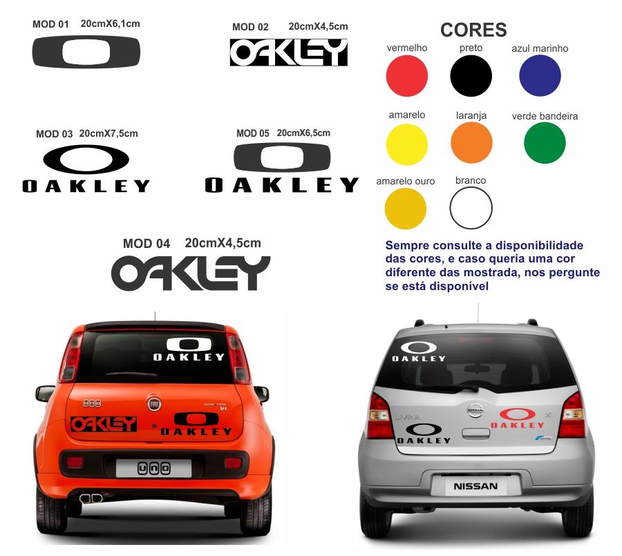 99cc33affa68f Adesivo Oakley 2 Pecas Carro Motos