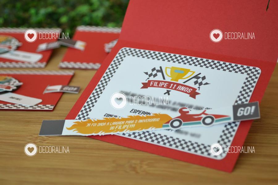 Convite Corrida Kart Fórmula 1 Interativo No Elo7 Decoralina 5cbe78