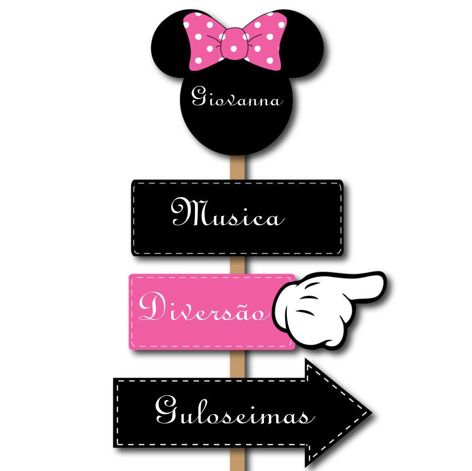 Plaquinhas Indicativas Minnie Rosa No Elo7 Minas Festa 80a6ab