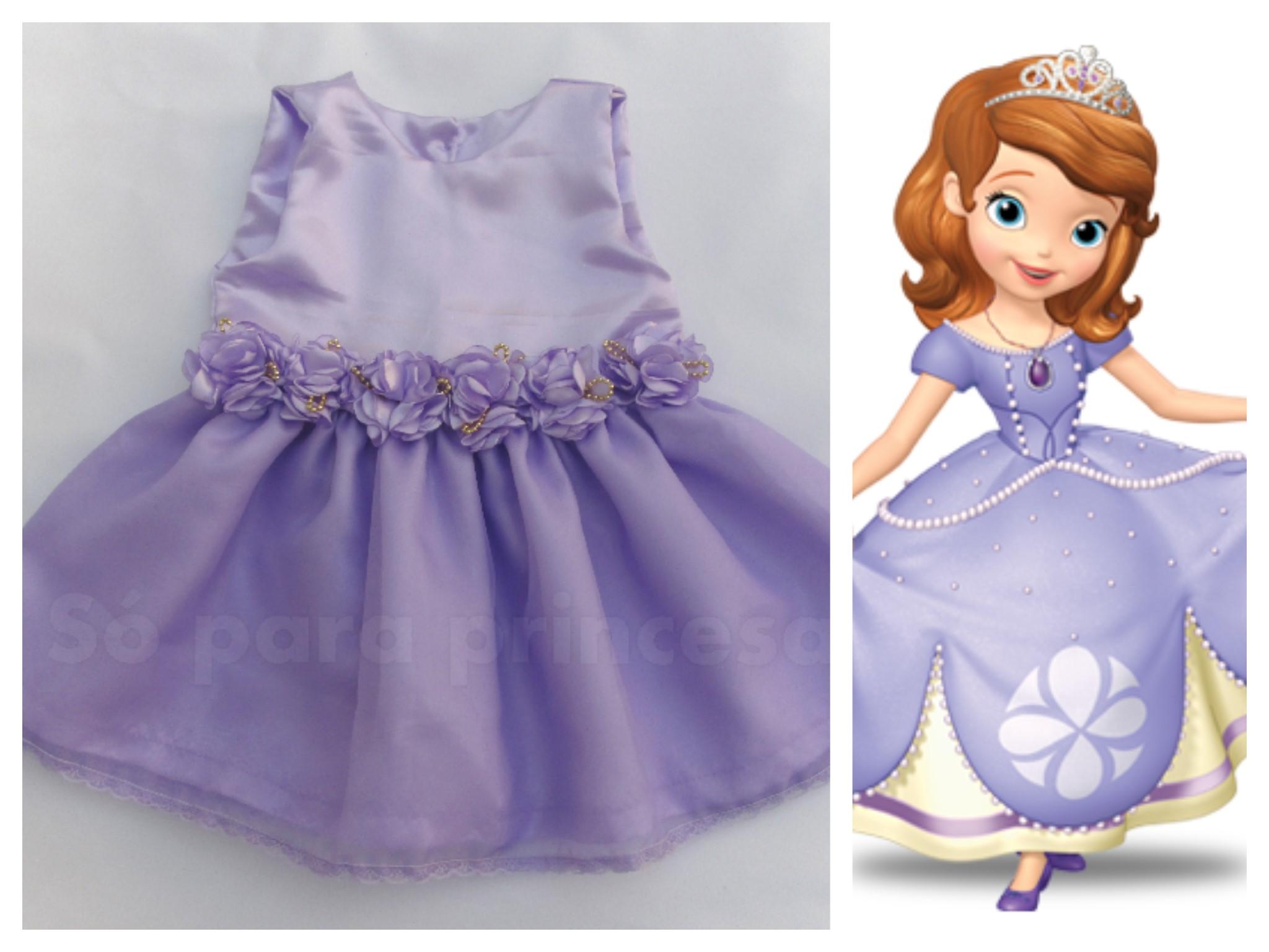 Vestido Princesa Sofia Mod 1 Ano Elo7
