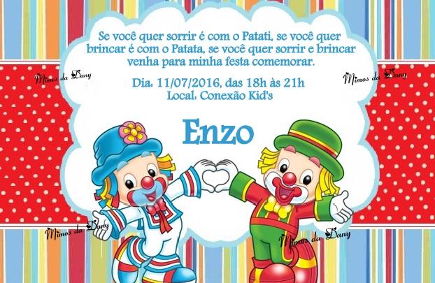 Convite Patati Patata No Elo7 Jardim Criativo Af135b