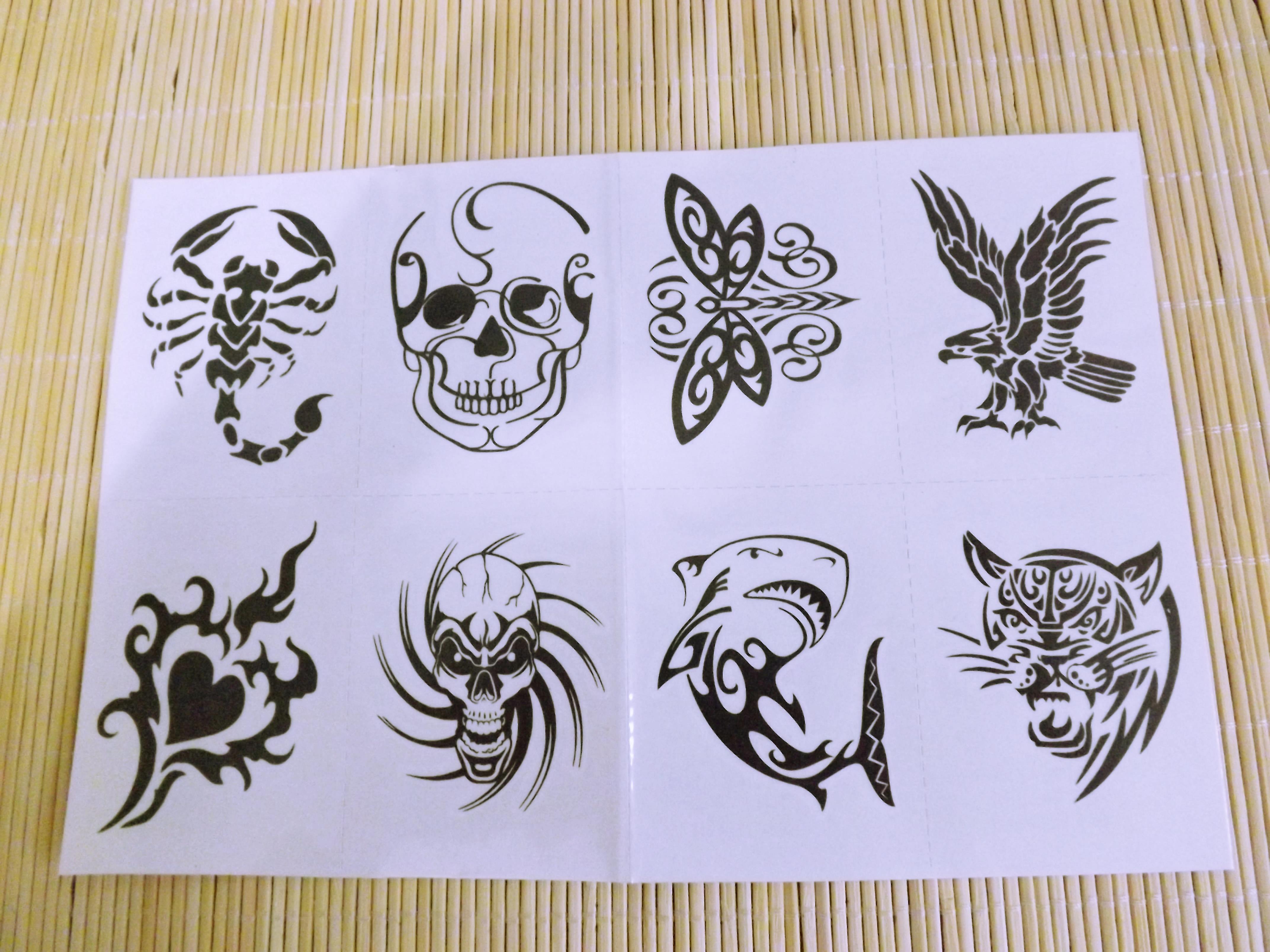 Tatuagem Temp Mod 35 Animais Tribais No Elo7 Divando Store