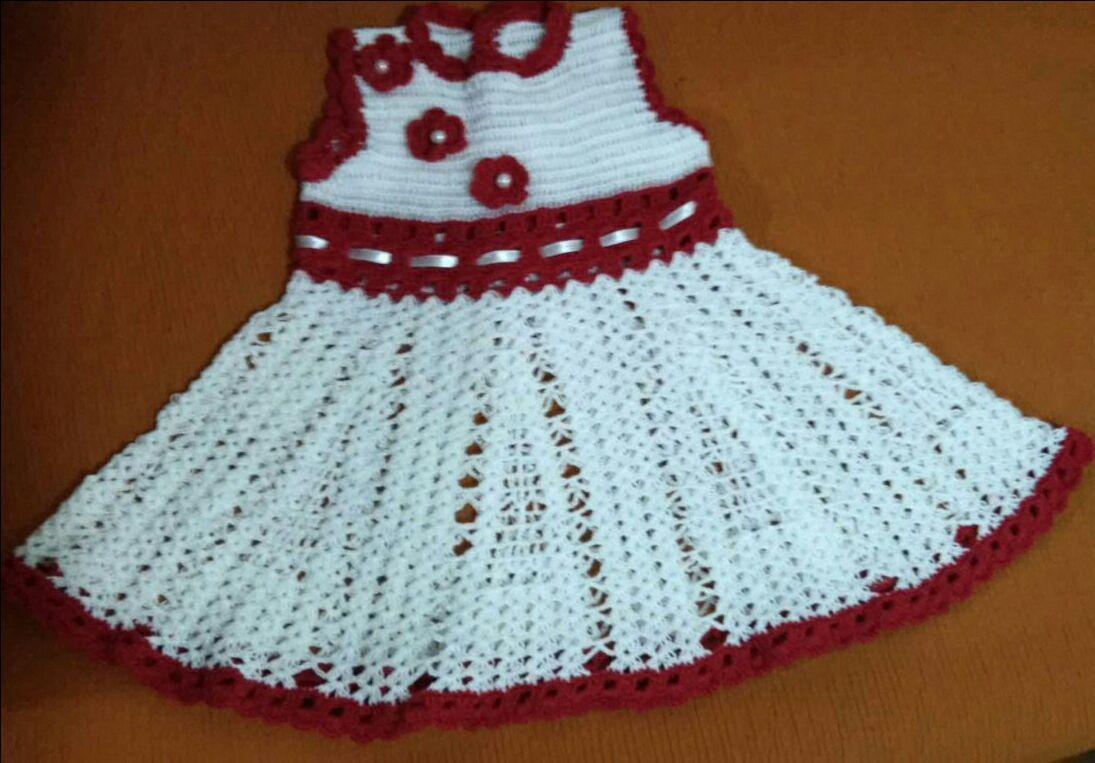 Populares Vestido Crochê Infantil no Elo7 | Tricô e Crochê By Carla Pacheco  ZU64