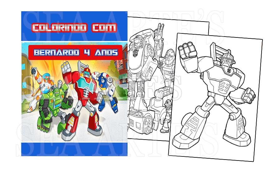 kit colorir transformers rescue bots no elo7 sea artes 80ea1d