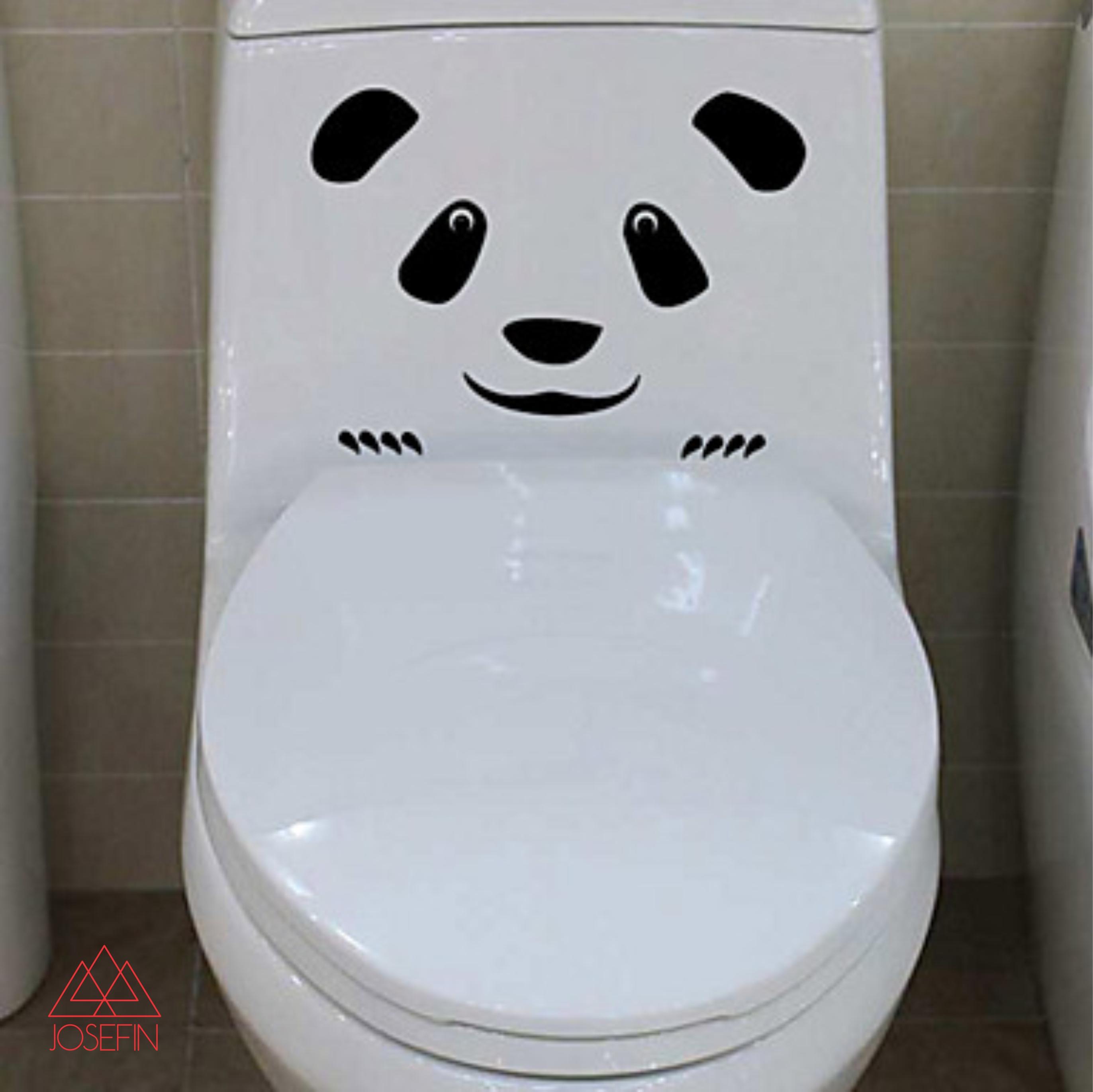 Adesivo Sinal Banheiro Panda A0254  Josefin  Elo7 -> Sinal Banheiro Feminino