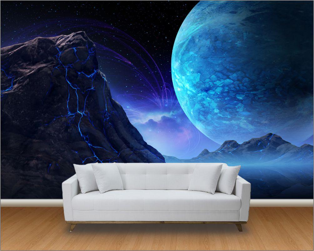 Papel de parede 3d universo m 0016 paredes decoradas - Papel pared ...