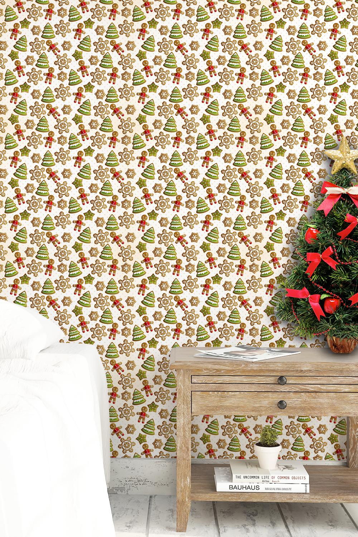 Papel De Parede Para Enfeites De Natal Aqui Gruda Papel De  ~ Ponto Cruz Cozinha Moderna