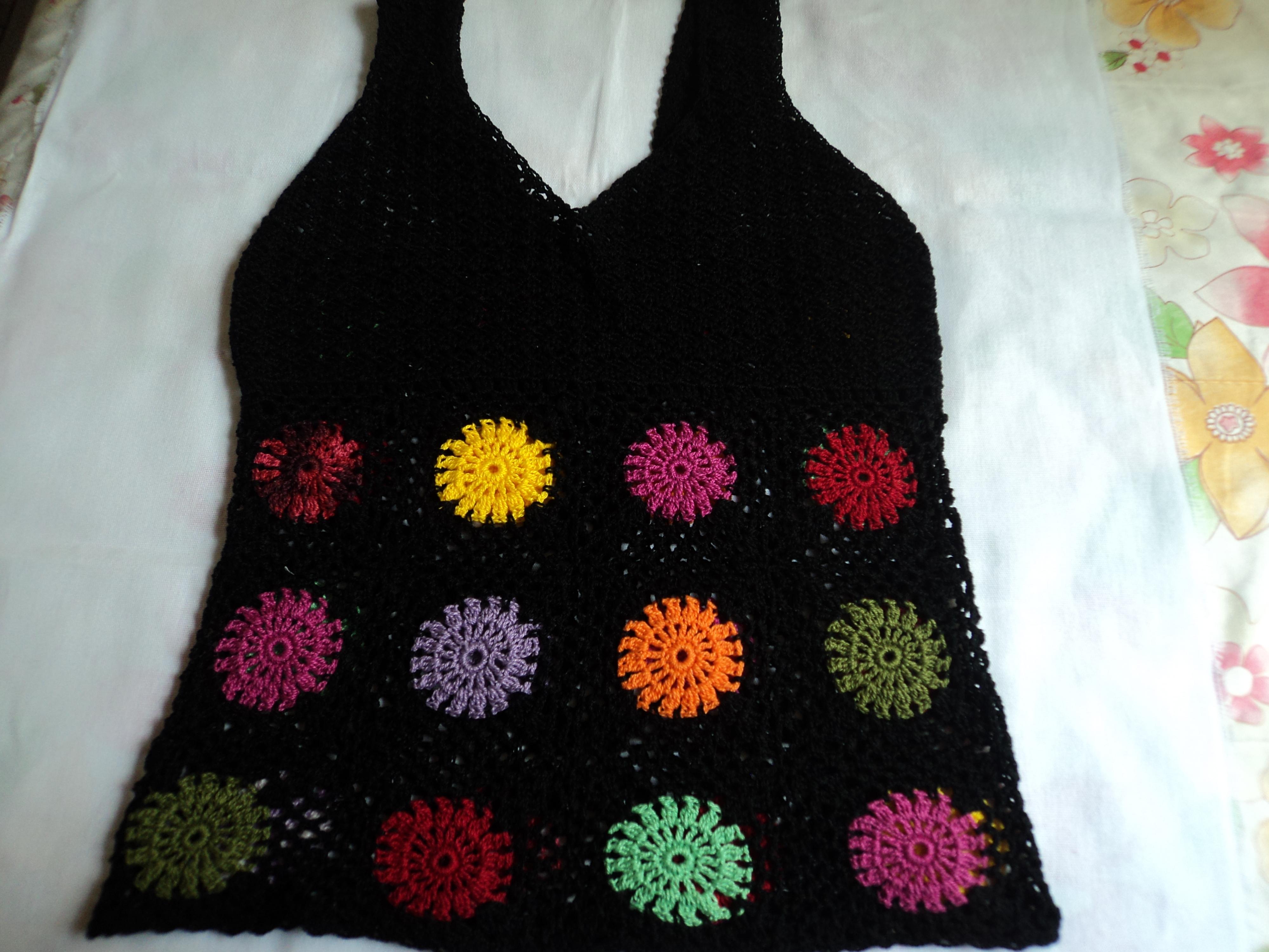 Mini Blusa de Croche  6194298c65168