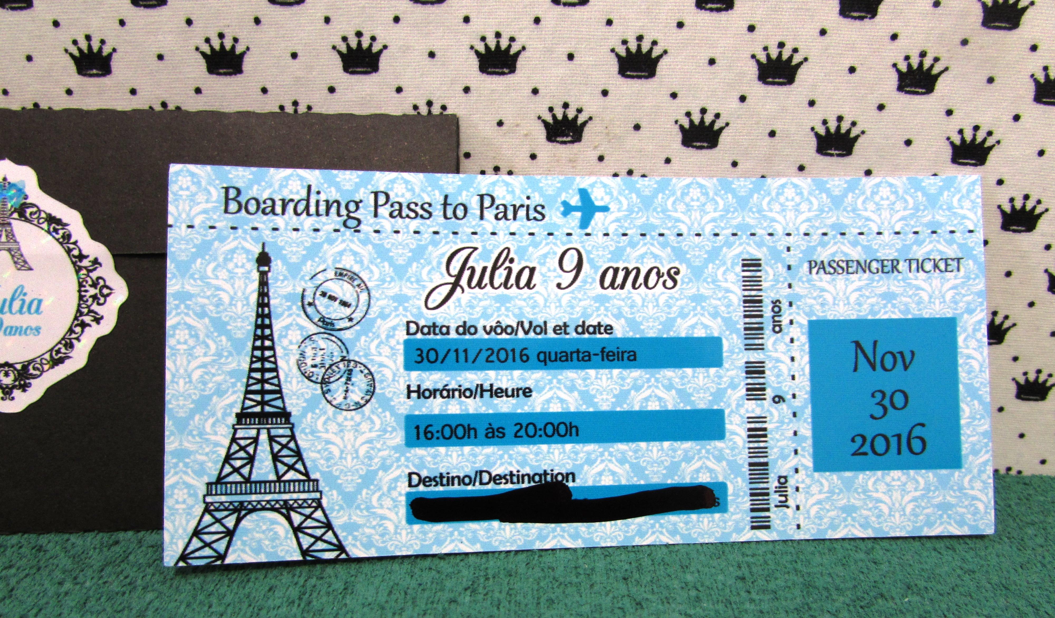 Paris Passaporte Convite No Elo7 Seculus Lembrancinhas 814ac2