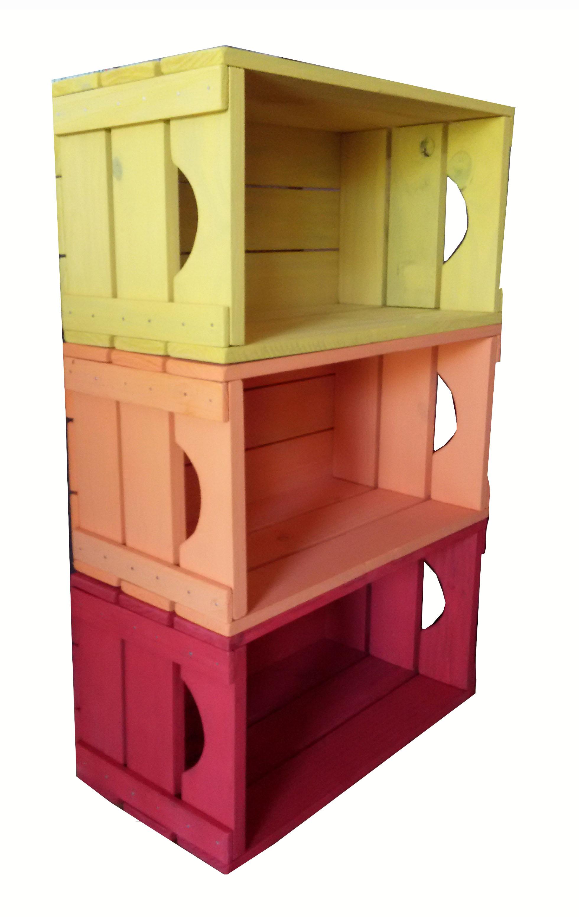 Loja De Artesanato Zona Sul ~ Estante 3 caixotes Caixaria móveis Elo7