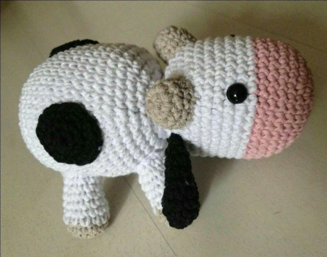 Amigurumi Vaca : Amigurumi vaca no elo criativo e caprichado f a