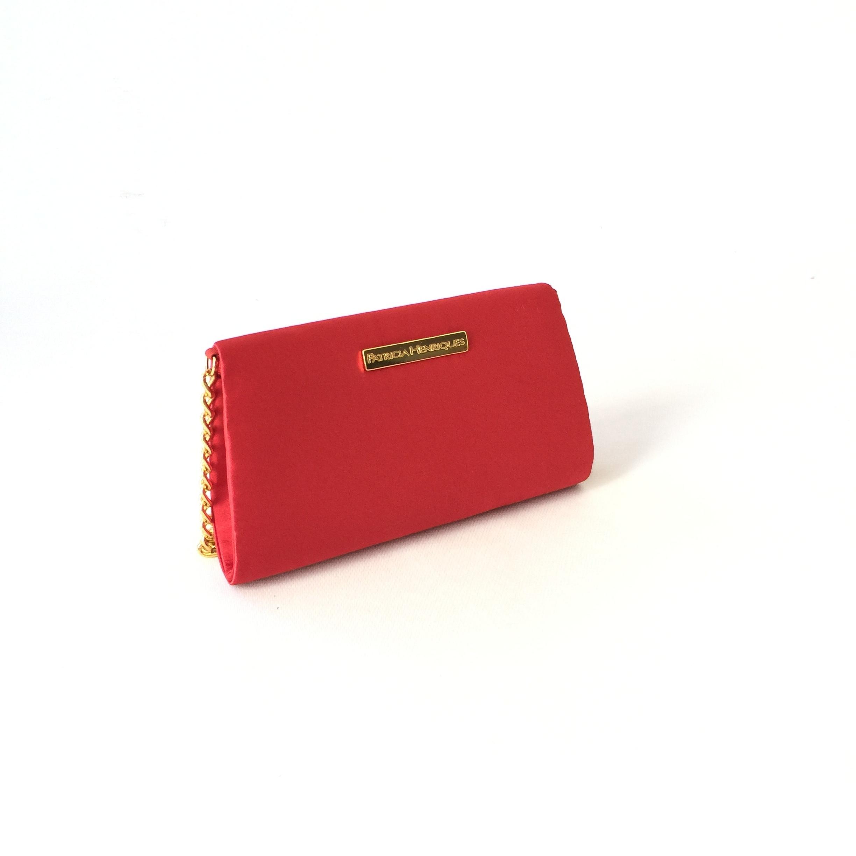 bfeca71389 Bolsa Vermelha Cetim Corrente Ouro no Elo7   PATRICIA HENRIQUES (8227FD)