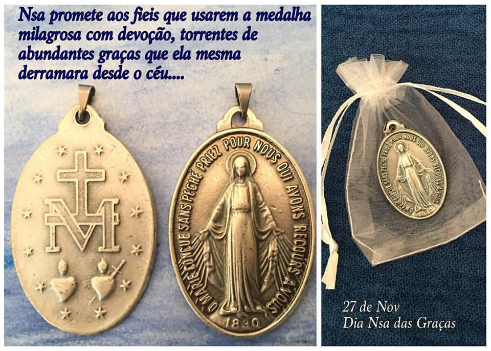 ce53aa6d8 Medalha Milagrosa Nossa Senhora Gracas no Elo7